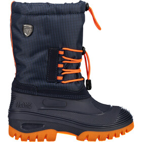 CMP Campagnolo Ahto WP Boots de neige Adolescents, black blue/orange fluo